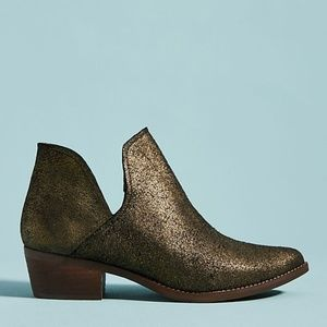 NWT Musse&Cloud Metallic Booties, 6, Anthropologie
